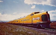 "The Union Pacific Railroad ""City of Denver"". #CD-05 was one of four identical 2400 hp diesel-electric streamliner trains with 2-car power sets that were delivered in May through July 1936 by the Pullman Standard Co. Engines and internal locomotive equipment were produced by General Motors Electro-Motive Division."