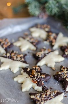 Pecan Chocolate Dipped Shortbread Cookies