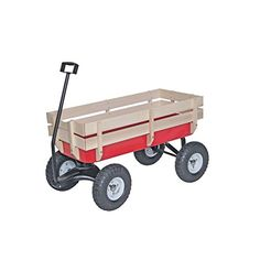 Kids' Pull-Along Wagons - Bigfoot Allterrain Steel and Wood Wagon >>> Read more at the image link.
