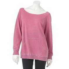 This Free Society Burnout Sweatshirt from Kohl's would go great with our mint FitSeries headphones! #Fit4Life