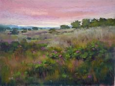 "Daily Paintworks - ""Pastel Demo: Nantucket Island Meadow on Canson"" - Original Fine Art for Sale - © Karen Margulis"