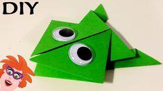 Origami met Juf Jannie - kikker vouwen van papier - YouTube Origami Set, Duct Tape, Crafts For Kids, Paper Crafts, Bird, Make It Yourself, Vans, How To Make, Handmade