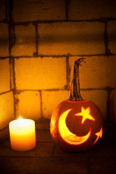 a cute carved pumpkin