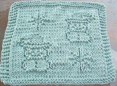 DigKnitty Designs: Snowmen and Snowflakes Knit Dishcloth Pattern