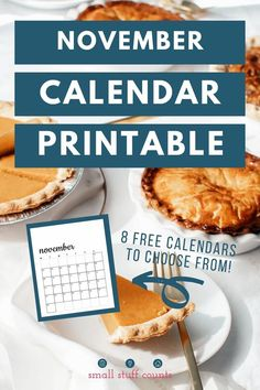 It's almost November which means it's time for a fresh new calendar! Here's a free printable calendar for November 2020. There are vertical and horizontal versions, with Sunday and Monday starts. Just choose your favorite, download, print, and start planning! #planningtools #Novembercalendar #freeprintablecalendars