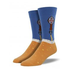 Pour yourself a cold one in these beer socks for men.