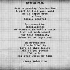 Dating a poet
