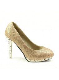 Waterdichte schoenen, hoge hakken, goud bruidsmeisje schoenen, trouwschoenen…