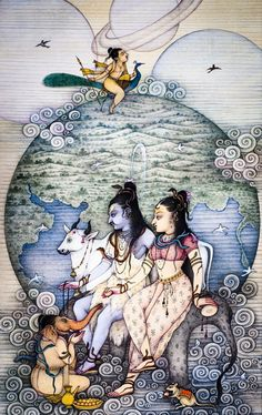 Lord Shiva Family (Lord Shiva, Mata Parvati, Lord Ganesha and Lord Kartikeya)