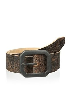 50% OFF Streets Ahead Men's Hex Buckle Belt (Brown)