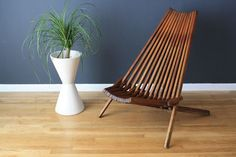 Folding Teek Chair from Mid Century Modern Finds in San Fran