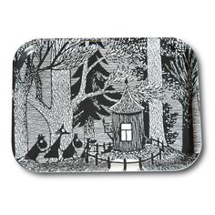 Cottage in the woods tray 27 x 20 cm
