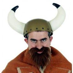 Plastic Viking Helmet with horns for finishing off your viking costume