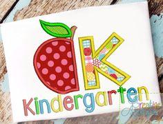 kindergarten applique $ REPIN THIS then click here: www.creativeappliques.com