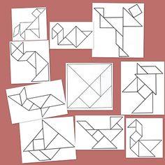Desarrolla el sentido espacial de los niños con estos tangram Kindergarten Math Activities, Montessori Math, Tangram, Teaching Time, Teaching Tools, Math Work, Shape Puzzles, Guided Math, Puzzles For Kids