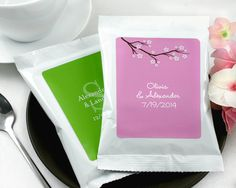 Personalized Coffee Favors. I am such a coffee nut, this would actually be neat