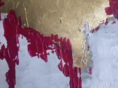 Abstrakte große Blattgold Malerei Gold-Wand-Kunst abstrakte