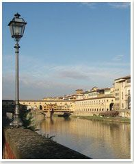 Ponte Vecchio and Uffizi Gallery from Lungarno, Florence