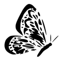 butterflly side view stencil 3