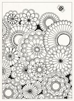 Adult Coloring Pages Full Size - Bing images Adult Coloring Pages, Garden Coloring Pages, Colouring Pages, Printable Coloring Pages, Coloring Sheets, Coloring Books, Coloring Pages For Grown Ups, Doodle Coloring, Mandala Coloring