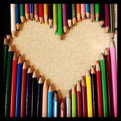 Hartje met potloden!