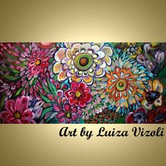 Check out our whimsical paintings flowers selection for the very best in unique or custom, handmade pieces from our shops. Colorful Paintings, Floral Paintings, Painting Flowers, Abstract Paintings, Beautiful Artwork, Flower Art, Original Paintings, Arts And Crafts, Gypsy