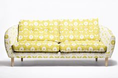 Mabel sofa: this two-toned upholstry would look great on my newest thrift store find!