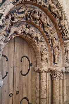 Refectory Door,  Abbaye Saint Aubin, Angers (Maine-et-Loire)  Photo by  PJ McKey