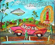 Algunos ejemplos de exvotos, o el arte de inmortalizar milagros en pinturas.