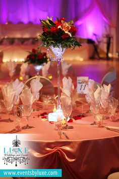 Soft Pink, Silver, Red and White Quinceañera Décor at the German Canadian Club in London Ontario by LUXE Weddings and Events