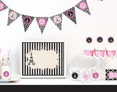 Paris Baby Shower Decorations   Paris Baby Shower Decor Ideas   Girl Baby  Shower Theme