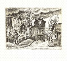 Charles Burchfield Print. Backyards in Spring DustCoverPaperati, $9.00