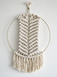 Path  Macrame and Metal Wall Hanging by amyzwikelstudio on Etsy
