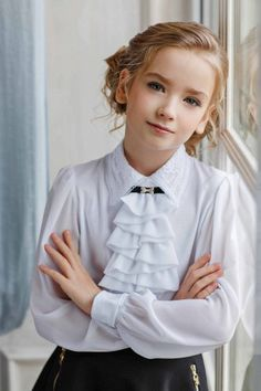 School Uniform, Collars, Ruffle Blouse, Romantic, Clothes, Tops, Women, Style, Fashion