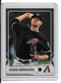 2015 Topps Platinum #506 Chase Anderson Arizona Diamondbacks 1 of 1 #ArizonaDiamondbacks