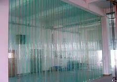 Résultats de recherche d'images pour «rideau pvc lanieres bleu»