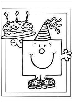 Mr. Men Tegninger til Farvelægning. Printbare Farvelægning for børn. Tegninger til udskriv og farve nº 29