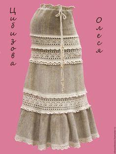 """Юбки ручной работы. Ярмарка Мастеров - ручная работа. Купить Вязаная юбка """"Велюровая ажурная"""". Handmade. Бежевый, юбка"""