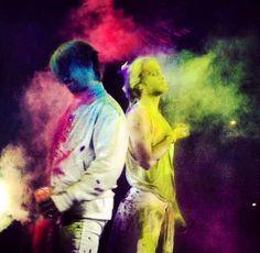 ₪ Ø lll ·o.  Le Zenith PARIS, White Night + Color War show 2/17/2014