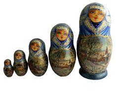 Matryoshka Doll, Storytelling, Watercolor Painting