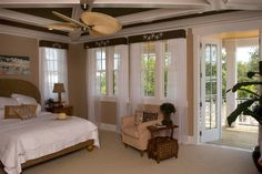 The Finley Plan by Allison Ramsey Architects, The ceiling fan and wood on the ceiling would have to go but this is a pretty view of the upstairs master bedroom