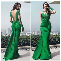 Sexy Backless Mermaid Evening Dresses Illusion Long Sleeve Sheer with Lace Sweep Train Prom Dresses Runway Gowns 2017 Evening Dresses Mermaid Evening Dresses Runway Dresses Online with $139.0/Piece on Lpdress's Store | DHgate.com