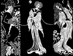 Wanted: The Three Greek Fates (Clotho, the spinner;Lachesis, the alloter; and Atropos, the cutter of the thread). Wanted for ruining lives, deciding everyone's fate, and indifference. Reward: A life you can choose. Image found at:http://www.gardendigest.com/time.htm