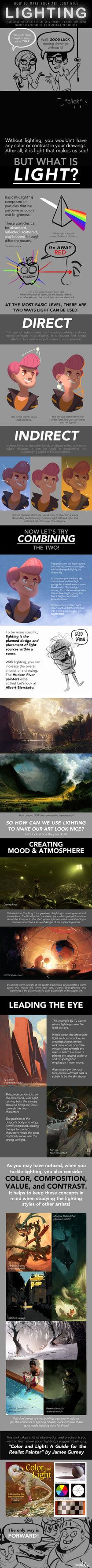 HOW TO MAKE YOUR ART LOOK NICE: Lighting by trisketched.deviantart.com on @DeviantArt
