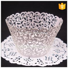 Check out this product on Alibaba.com APP HOT Lilac color laser cutting paper cake mould baking cups decoration tools Cupcake Wrapper for engagement exhibition