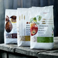 """Crispy Food by envision:design. The concept: """"Muesli: the way it was meant to … – Best Anımals Food Cereal Packaging, Fruit Packaging, Food Packaging Design, Pretty Packaging, Packaging Design Inspiration, Brand Packaging, Chocolate Packaging, Coffee Packaging, Bottle Packaging"""