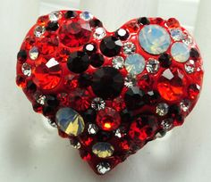 ColorfulHeart Ring/Valentine's Day/Statement by victoriascharms