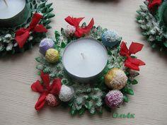 Svečturīši no sāls mīklas - Ideju tarba Metroid, Rubrics, Tea Lights, Christmas Wreaths, Candles, Table Decorations, Holiday Decor, Kids, Crafts