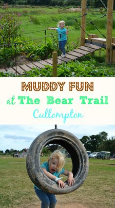 The Bear Trail near Cullopmton in Devon is a new outdoor family attraction encouraging families to get active. It has scramble nets, a zip wire, rope swings, tunnels and lots of mud. It's a fun Devon day out where a change of clothes is a must for visitors!