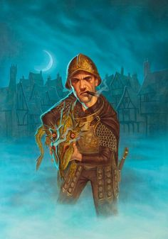 Sam Vimes, commander of the Ankh-Morpork City Watch in Terry Pratchett's Discworld stories.